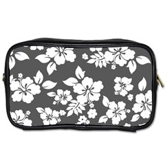 Gray Hawaiian Toiletries Bags 2 Side by AlohaStore