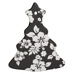 Gray Hawaiian Ornament (christmas Tree) by AlohaStore