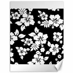 Black And White Hawaiian Canvas 36  x 48   by AlohaStore