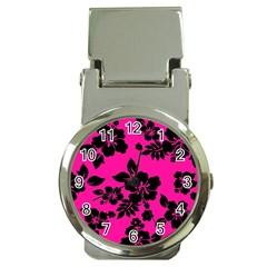 Dark Baby Pink Hawaiian Money Clip Watches by AlohaStore