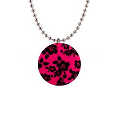 Dark Pink Hawaiian Button Necklaces by AlohaStore