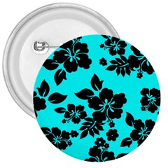 Blue Dark Hawaiian 3  Buttons by AlohaStore