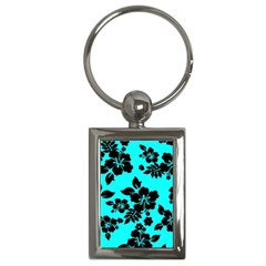 Blue Dark Hawaiian Key Chains (rectangle)  by AlohaStore