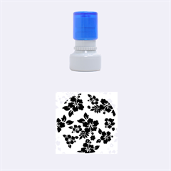 Blue Dark Hawaiian Rubber Round Stamps (small) by AlohaStore
