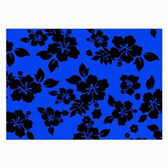 Dark Blue Hawaiian Large Glasses Cloth (2 Side) by AlohaStore