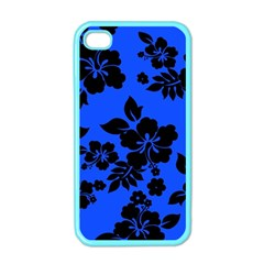 Dark Blue Hawaiian Apple Iphone 4 Case (color) by AlohaStore