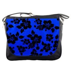 Dark Blue Hawaiian Messenger Bags by AlohaStore