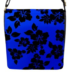 Dark Blue Hawaiian Flap Messenger Bag (s)
