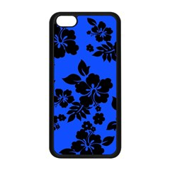 Dark Blue Hawaiian Apple Iphone 5c Seamless Case (black) by AlohaStore