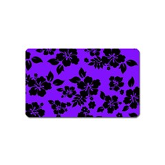 Violet Dark Hawaiian Magnet (name Card) by AlohaStore