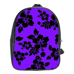 Violet Dark Hawaiian School Bags(Large)  by AlohaStore