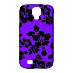 Violet Dark Hawaiian Samsung Galaxy S4 Classic Hardshell Case (pc+silicone)