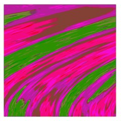 Swish Bright Pink Green Design Large Satin Scarf (square) by BrightVibesDesign
