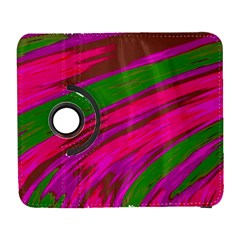 Swish Bright Pink Green Design Samsung Galaxy S  Iii Flip 360 Case by BrightVibesDesign