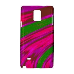 Swish Bright Pink Green Design Samsung Galaxy Note 4 Hardshell Case by BrightVibesDesign