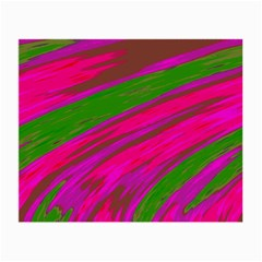 Swish Bright Pink Green Design Small Glasses Cloth (2-Side) by BrightVibesDesign