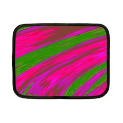 Swish Bright Pink Green Design Netbook Case (small)  by BrightVibesDesign