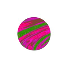 Swish Bright Pink Green Design Golf Ball Marker (4 Pack) by BrightVibesDesign