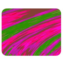 Swish Bright Pink Green Design Double Sided Flano Blanket (medium)  by BrightVibesDesign