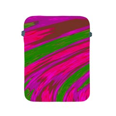 Swish Bright Pink Green Design Apple Ipad 2/3/4 Protective Soft Cases by BrightVibesDesign