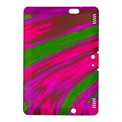 Swish Bright Pink Green Design Kindle Fire Hdx 8 9  Hardshell Case by BrightVibesDesign