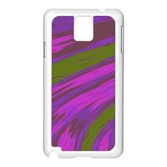 Swish Purple Green Samsung Galaxy Note 3 N9005 Case (white) by BrightVibesDesign