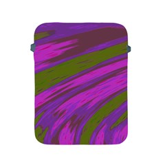 Swish Purple Green Apple Ipad 2/3/4 Protective Soft Cases by BrightVibesDesign