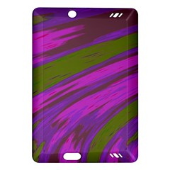 Swish Purple Green Amazon Kindle Fire Hd (2013) Hardshell Case by BrightVibesDesign