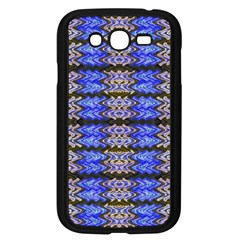 Pattern Tile Blue White Green Samsung Galaxy Grand Duos I9082 Case (black) by BrightVibesDesign