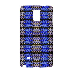 Pattern Tile Blue White Green Samsung Galaxy Note 4 Hardshell Case by BrightVibesDesign
