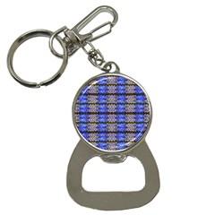 Pattern Tile Blue White Green Bottle Opener Key Chains