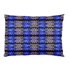 Pattern Tile Blue White Green Pillow Case by BrightVibesDesign
