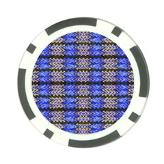 Pattern Tile Blue White Green Poker Chip Card Guards (10 Pack)  by BrightVibesDesign