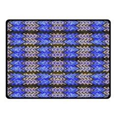 Pattern Tile Blue White Green Double Sided Fleece Blanket (small)  by BrightVibesDesign