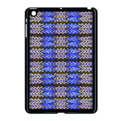 Pattern Tile Blue White Green Apple Ipad Mini Case (black) by BrightVibesDesign