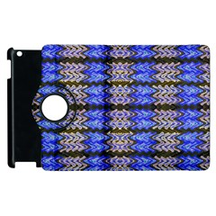 Pattern Tile Blue White Green Apple Ipad 2 Flip 360 Case by BrightVibesDesign