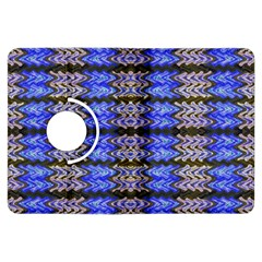 Pattern Tile Blue White Green Kindle Fire Hdx Flip 360 Case by BrightVibesDesign