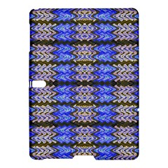 Pattern Tile Blue White Green Samsung Galaxy Tab S (10 5 ) Hardshell Case  by BrightVibesDesign