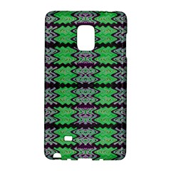 Pattern Tile Green Purple Galaxy Note Edge by BrightVibesDesign