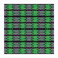 Pattern Tile Green Purple Medium Glasses Cloth (2 Side) by BrightVibesDesign