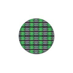 Pattern Tile Green Purple Golf Ball Marker by BrightVibesDesign