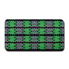 Pattern Tile Green Purple Medium Bar Mats by BrightVibesDesign