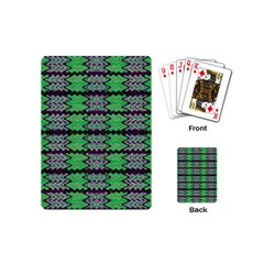 Pattern Tile Green Purple Playing Cards (mini)  by BrightVibesDesign