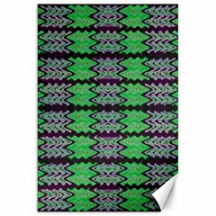 Pattern Tile Green Purple Canvas 20  X 30   by BrightVibesDesign