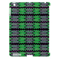 Pattern Tile Green Purple Apple Ipad 3/4 Hardshell Case (compatible With Smart Cover) by BrightVibesDesign