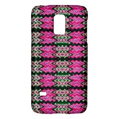 Pattern Tile Pink Green White Galaxy S5 Mini by BrightVibesDesign