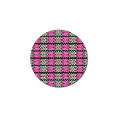 Pattern Tile Pink Green White Golf Ball Marker by BrightVibesDesign