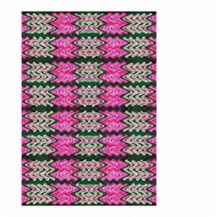 Pattern Tile Pink Green White Small Garden Flag (two Sides) by BrightVibesDesign
