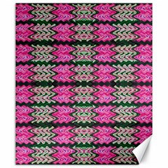 Pattern Tile Pink Green White Canvas 20  X 24   by BrightVibesDesign