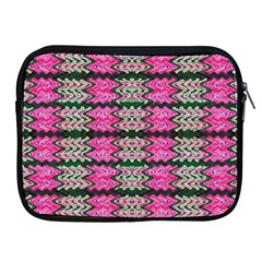 Pattern Tile Pink Green White Apple Ipad 2/3/4 Zipper Cases by BrightVibesDesign